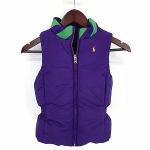 Ralph Lauren Puffer Vest Girls Reversible